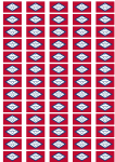 Arkansas Flag Stickers - 65 per sheet